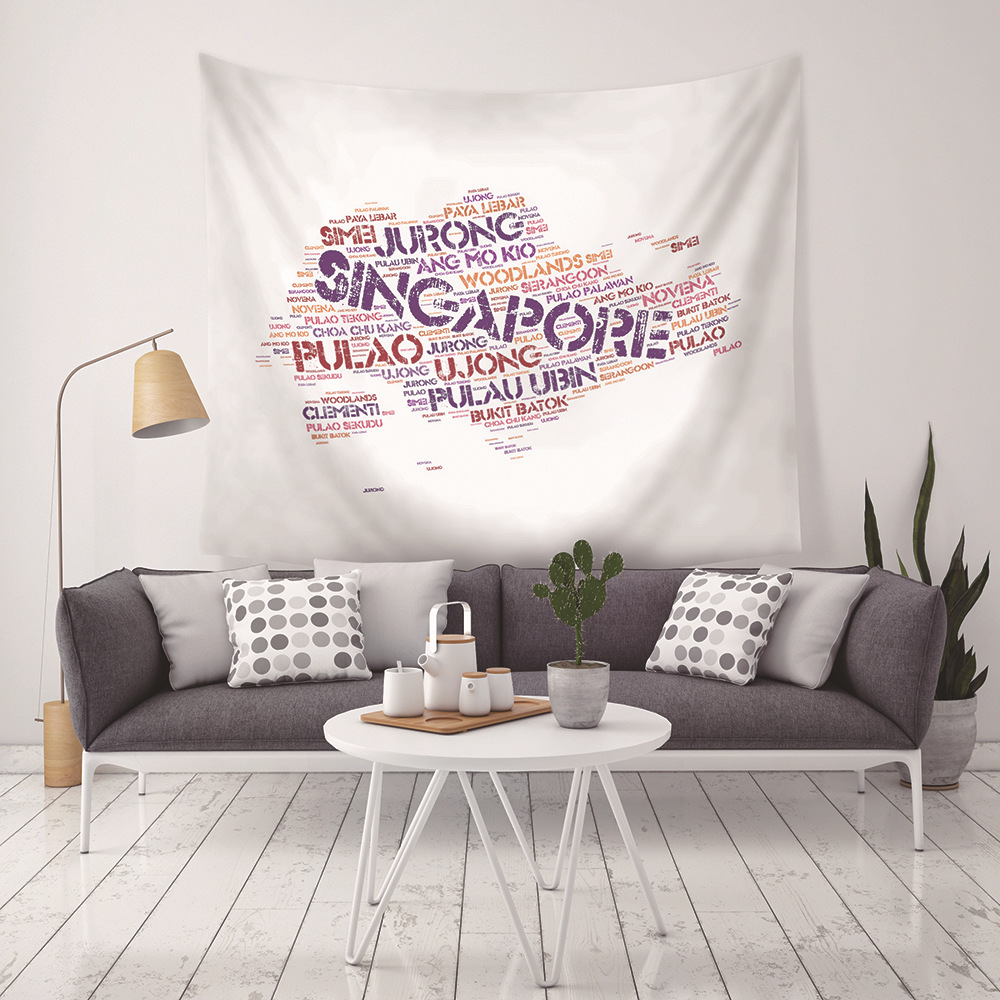 New Personality Foreign Alphabet Map Canadian Map Tapestry