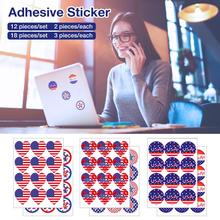 Patriotic Temporary Stickers American Flag Independence Day  US Election Stickers front knot american flag patriotic tee