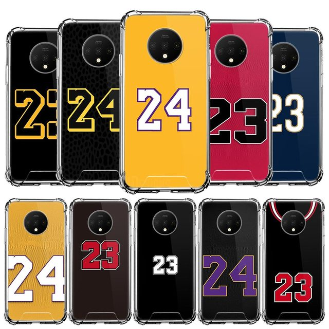 Basketball 23 24 Number Case For Oneplus 8 7 7T Pro 5G 6 6T Airbag Anti-Fall Luxury Silicone Shell Phone Coque Bags