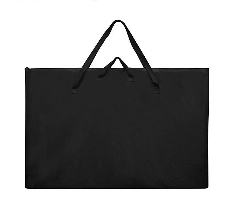 Large Size Art Portfolio Tote With Nylon Shoulder Poster Board Storage Bag  Travel Bags