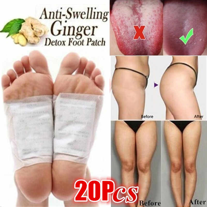 20pcs/5pairs Detox Foot Patches Foot Care Tool Weight Loss Pads Face Skin Care Tool Body Toxins Anti Cellulite Herbal Adhesive