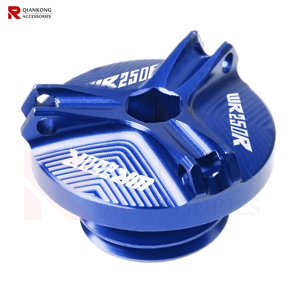 Motorcycle Oil Filler Cap Engine plug Cover For <font><b>YAMAHA</b></font> WR250R <font><b>WR</b></font> 250R WR250 R <font><b>WR</b></font> 250 R 2007-2017 <font><b>2008</b></font> 2009 2010 2011 with logo image
