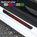 4 шт. декоративная Накладка на порог из углеродного волокна наклейка автомобильные аксессуары для KIA picanto soul sorento k2 k5 flip