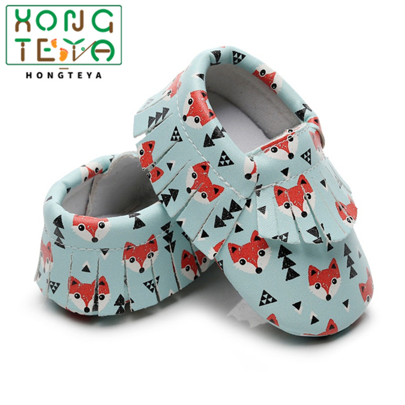 New Arrival Toddler Newborn Baby Boys Girls Animal Crib Shoes Fox Infant Cartoon Baby Moccasins With Hard Rubber Sole Non-slip