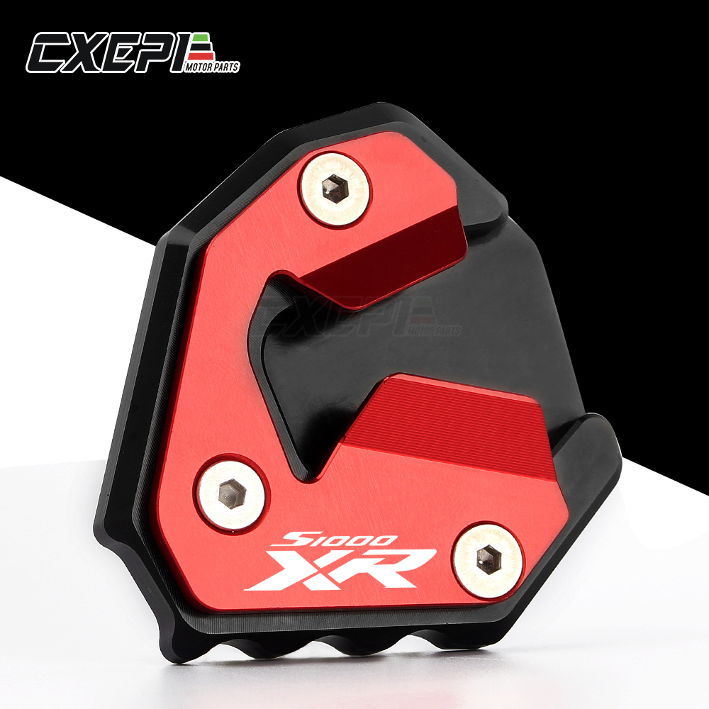 Stand extension enlarger pad For BMW S1000XR 2015 2016 2017 kickstand sidestand
