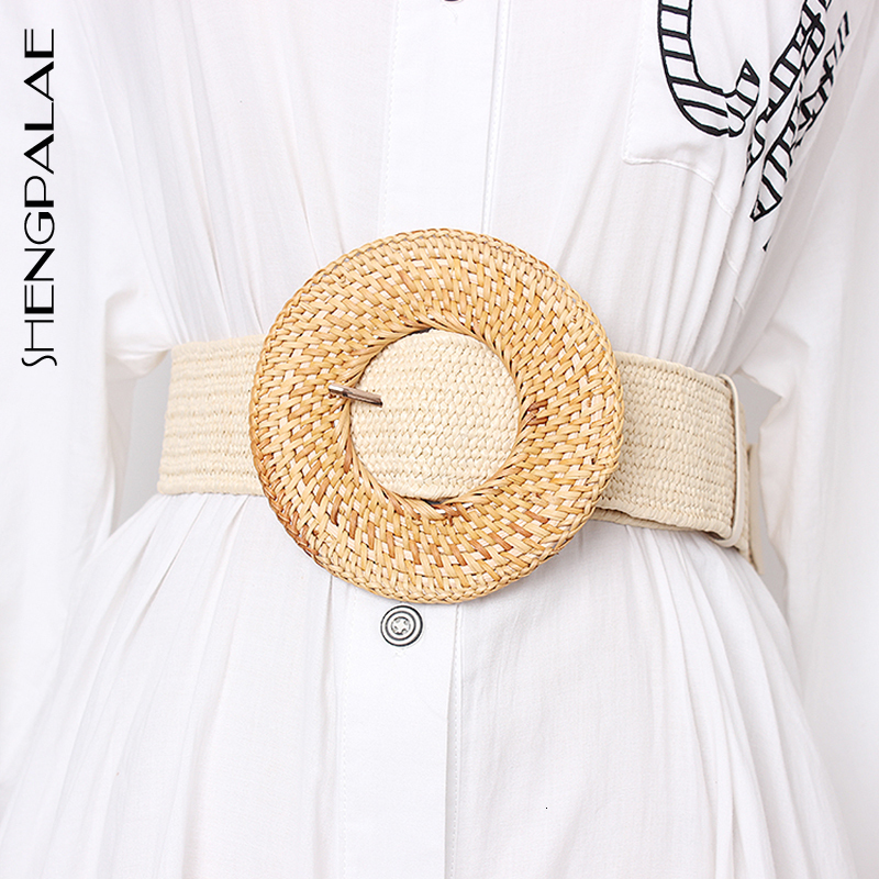 SHENGPALAE Elastic Waist Belt Female Striped Belts For Women Vintage Dresses Accessories Fashion New Tide 2020 Summer FU310
