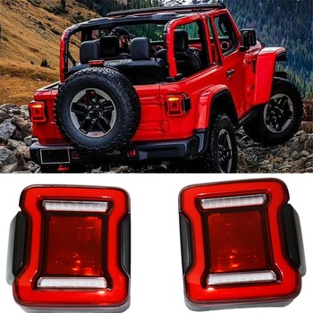 EXTEROR AUTO ACCESSORIES LED REAR LIGHTS TAIL LAMP ASSEMBLY PARTS FIT FOR JEEP WRANGLER JL 2019 REAR LAMPS LIGHTTING  CAR PARTS