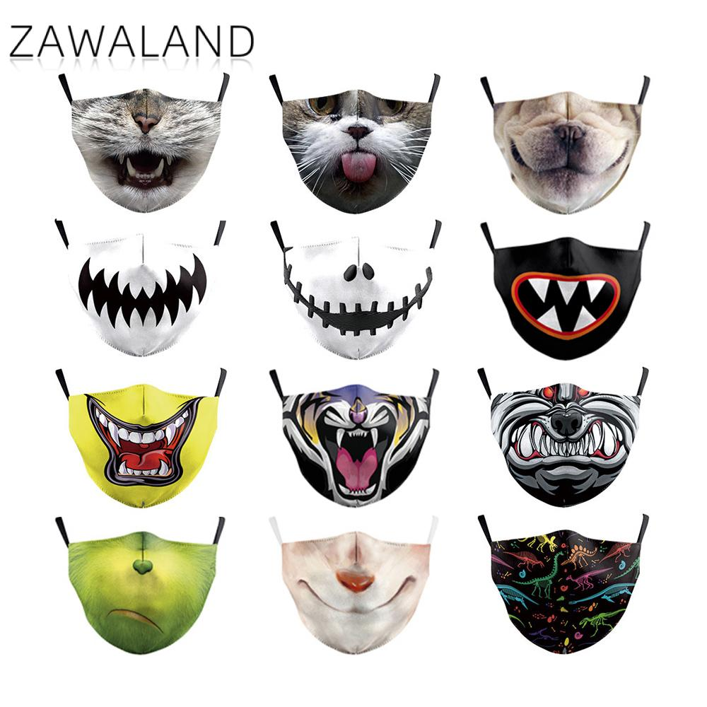 Zawaland Children's Kid Printed Mask Cute Cartoon Animal Anime Puppy Face Masks Dustproof Anti-dust Protective Masks With Filter