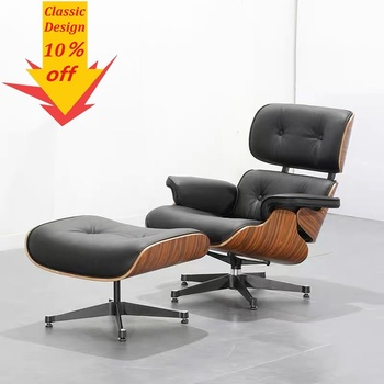 U-BEST Living room sleeping chair swivel Leisure lounge chair 100% real leather leisure furniture,popular design lounge chair