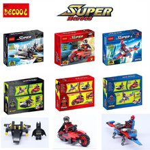 Super Heroes 3pcs/set DECOOL batman robin spider man movie Action Figures for legoed Blocks Toys gift FIT for minifigure(China)