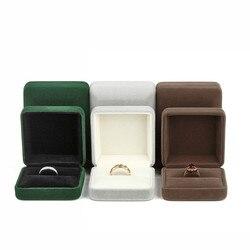24pc vert une bijoux boîtes anneau boîte taille 6.2*5.2*3.6cm avec 1 pièces gris anneau boîtes emballage cadeau pendentif boîtes