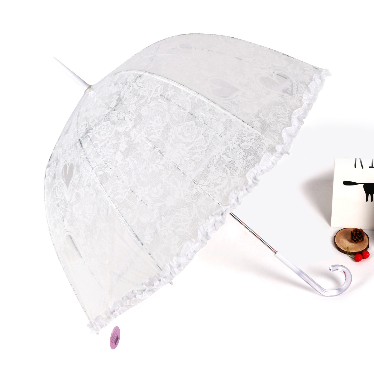 RST Umbrella Foreign Trade Export Europe Wedding Ceremony Lace Crystal Handle Transparent Princess Umbrella