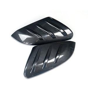 Image 2 - Preto 1 par de fibra carbono estilo porta lateral espelho retrovisor capa guarnição tampa apto para honda civic 2016 2017 2018 2019 2020