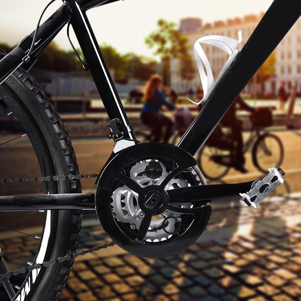 Protector para la cadena de la bicicleta para el ejercicio al aire libre bicicletas de monta/ña y de color negro