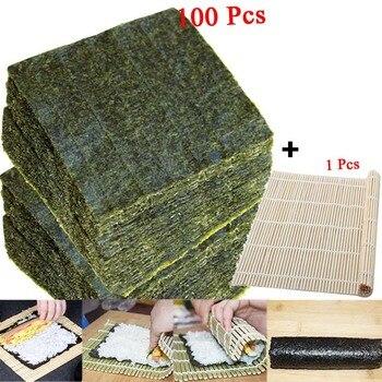 50-100 шт. суши нори морские водоросли, оптовая продажа с фабрики, качество AAA, темно-зеленая вторичная выпечка Нори Суши алгуны, Самые продаваемые суши