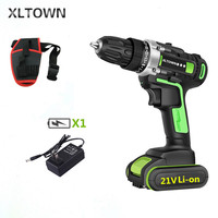 XLTOWN 21V Electric Screwdriver Lithium Battery Rechargeable Household Multifunction Cordless Electric Drill Tools
