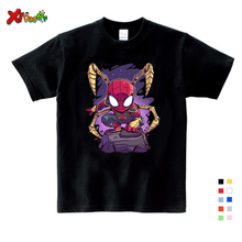 NEW Boys Spiderman Ironman Captain America T Shirt Summer Short Sleeve Superhero Tee Kids Cotton Clothes