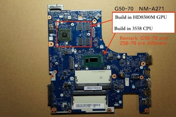 New For Lenovo G50-70 ACLU1 ACLU2 NM-A271 laptop PC motherboard HD8500M 2GB
