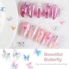 5 пакетов/10 шт декоративные акриловые бабочки для ногтей