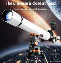 Télescope astronomique professionnel pour l'espace HD, Film vert FMC, Vision nocturne, montre, nébuleuse, lune, voie lactée, météores