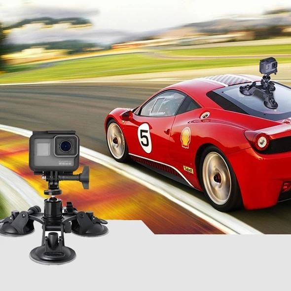 Super Three-Leg Suction Cup Stabilization Bracket Triple Suction Cup Stabilization Bracket Car Mount Holder DSLR GoPro Hero