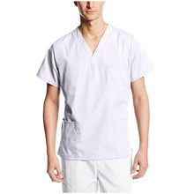 Uomo bianco infermiera accessori uniforme da lavoro top infermieristica uniforme da lavoro t-shirt con tasche uniforme medico para mujer 2021