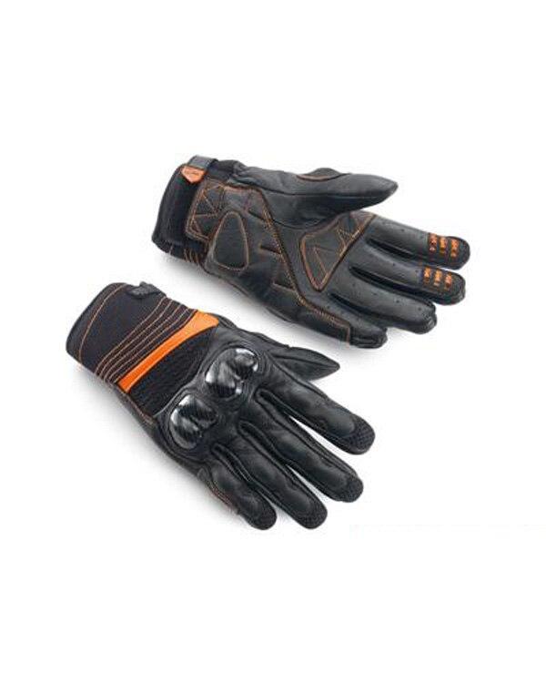 Moto noire Gp course équipe conduite gants de moto pour Ktm hommes gant en cuir