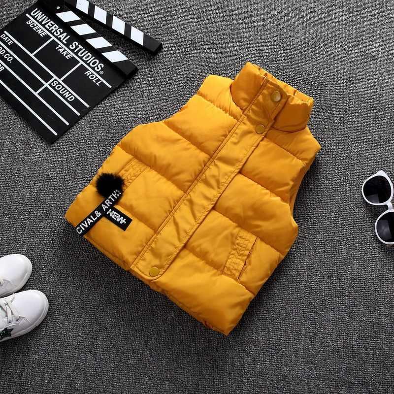 Outono inverno meninas menino casual colete jaqueta crianças outerwear casacos para a menina colete infantil bebê algodão sem mangas crianças jaqueta quente