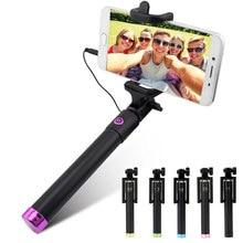 Раздвижная селфи-палка, монопод для Iphone, Samsung, Android, IOS, ручной держатель для камеры, мини селфи-палка, штатив 27,5 см-80 см