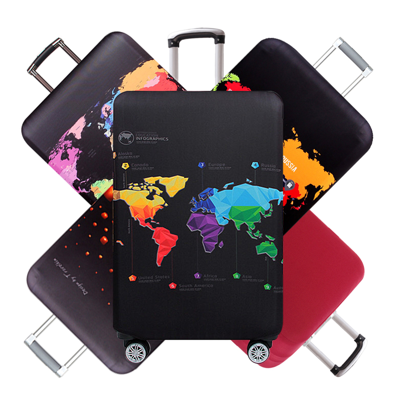 Travel  Rivet Luggage Protective Cover Men's Elastic Suitcase Case Trolley Dust Rain Bags Accessories Supplies Product