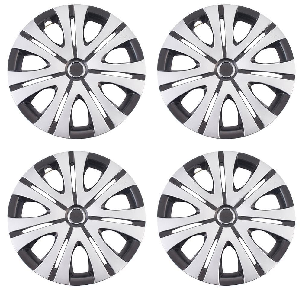 <font><b>14</b></font> Inch <font><b>Car</b></font> <font><b>Wheel</b></font> Caps Hub Cap Vehicle <font><b>Wheel</b></font> Rim Skin <font><b>Cover</b></font> Hubcap Automobile Accessories 4 Pcs image