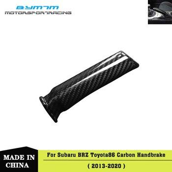 Real Carbon fiber Handbrake sticker interior Car accessories For TOYOTA 86 Subaru BRZ 13-20