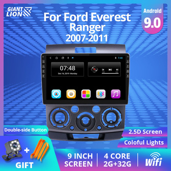 2din Android 9.0 Car Radio For Ford Everest Ranger 2007-2011 Car Multimedia Video Player Navigation Gps Stereo 2Din Dvd Player image
