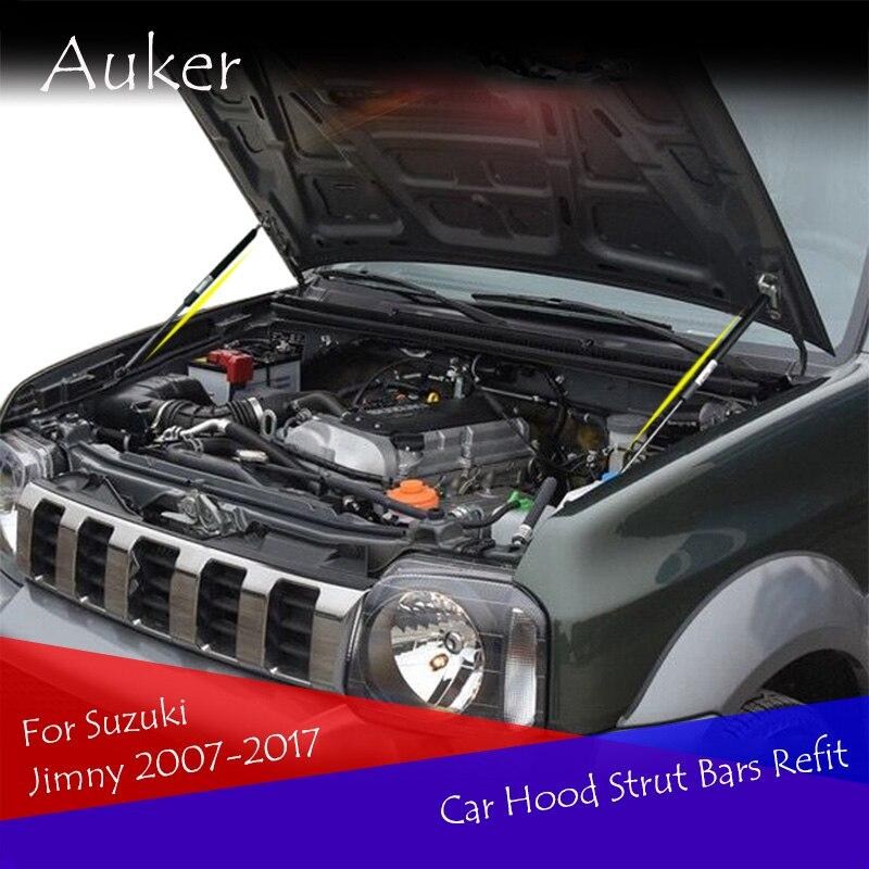 Для Suzuki Jimny 3th 2007 2017, автостайлинг, ремонт, капот, газ, удар, подъемник, стойки, аксессуары|Хромирование| | АлиЭкспресс