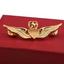 Broches clásicos para hombres, alas USAF estilo retro de la Segunda Guerra Mundial, alas militares de comando, alas de Metal, placa de Metal, Pin, recuerdos nostálgicos para Fans del ejército