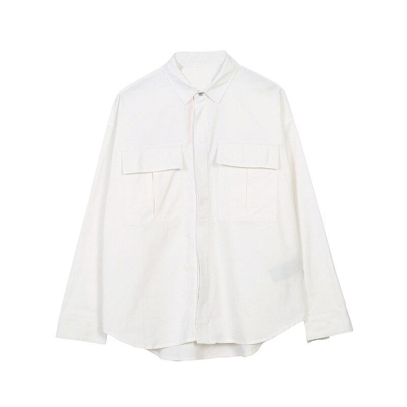 Best Version 1:1 Essentials Fog 2019 Sixth Collection Shirt For Women Men Black/White Cotton Oversized Men Long Sleeve Shirts
