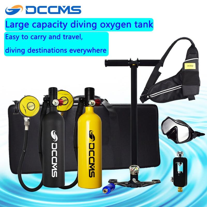 DCCMS Mini Scuba Equipment 1000ML Scuba Diving Spare Oxygen Tank Portable Scuba Gas Tank