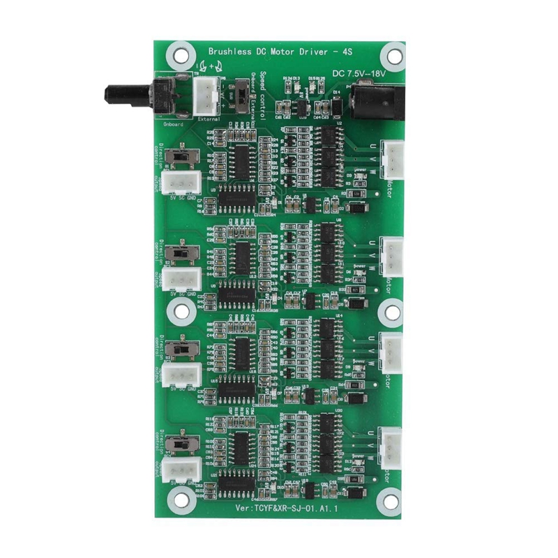 4 Channels Brushless Motor Driver Board With Multi-Level Protections,PWM Multi-Level Protection Brushless Motor Speed Controller