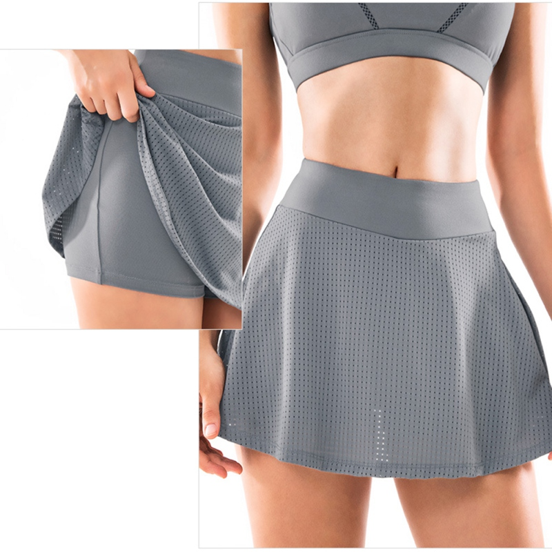 respirável fitness yoga badminton com shorts internos