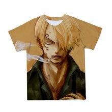 2021 new anime T-shirt summer men and women interesting one piece print 3d T-shirt hip-hop street men's Tshirt Sauron Sanji Tops