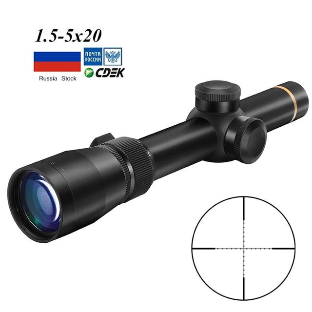 1.5 5X20 Mil dot Reticle Sight רובה היקף טקטי Riflescopes ציד היקף צלף ציוד עבור Rilfe אקדח אוויר