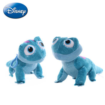 Disney 17-27CM Frozen 2 Bruni Elsa Olaf Toys Chameleon Anime Cartoon Figure Plush Dolls Keychain Pendant Kid Birthday Gift - discount item  35% OFF Stuffed Animals & Plush