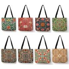 Exquis coloré motif Floral impression sac à main décontracté pratique femmes Shopping fourre-tout sacs voyage plage en plein air paquet sac