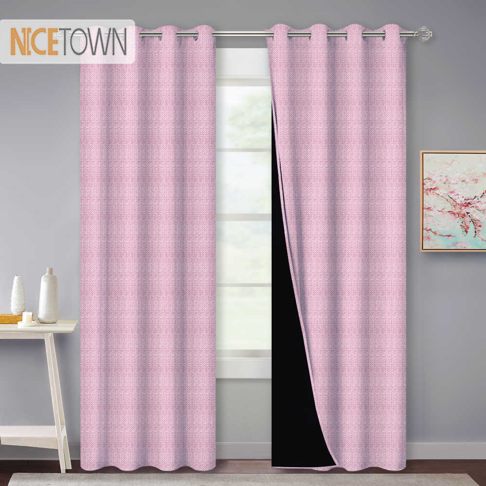 Nicetown Blackout Window Curtains Drapes For Living Room Grommet