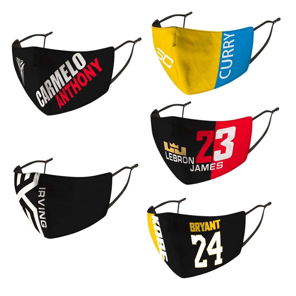 Soccer Basketball Mask Print  James-Kobe Face Masks Washable Reusable Mouth Mask Proof Bacteria Mask For Fans