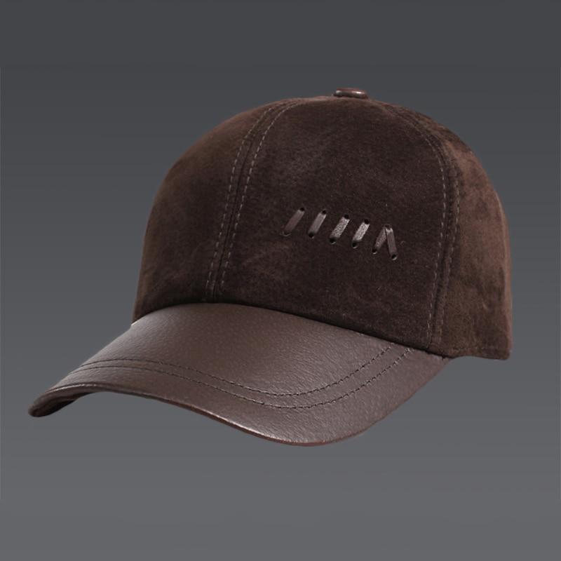 New 2022 Spring Men's Real Genuine Pig Leather Baseball Cap Brand Newsboy /Beret Hat Winter Warm Caps Hats Men Women