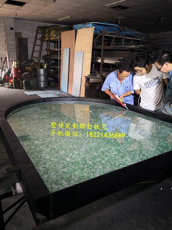 Shanghai Hench Brand China Factory 100% Custom Made Sale Australia Iron Front Doors With Glass