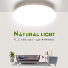 Plafonnier LED à lumière blanche chaude/froide naturelle, éclairage d'intérieur, luminaire de plafond, idéal pour un salon, 18/24/36/48W