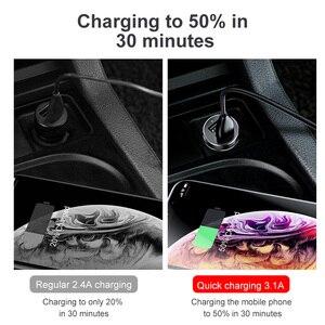 Image 3 - Baseus شاحن سيارة ولاعة السجائر المقبس الفاصل محور محول الطاقة آيفون سامسونج الهاتف المحمول المتوسع شاحن DVR لتحديد المواقع