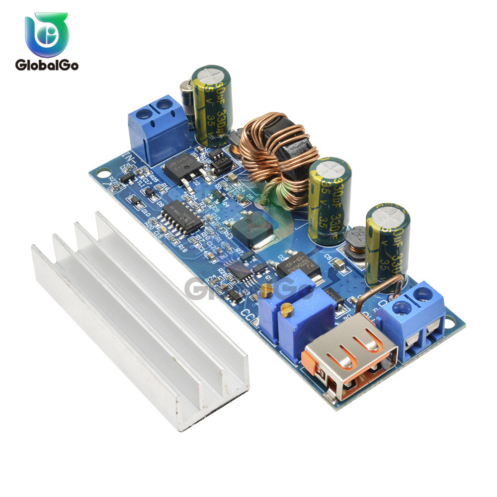 4A 80W <font><b>DC</b></font> <font><b>DC</b></font> <font><b>Step</b></font> <font><b>Up</b></font> Boost Converter 2-24v to 3-30v Constant Voltage Current USB Regulated Power Supply Board With Heat Sink image